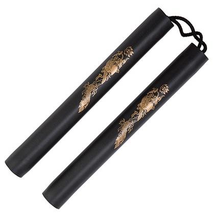 Black foam safety cord nunchaku 12 inch