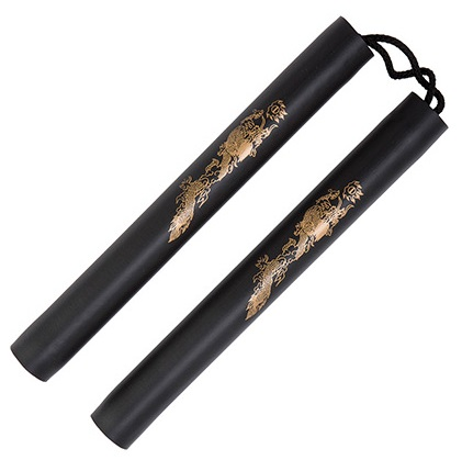 Black foam safety cord nunchaku 12 inch