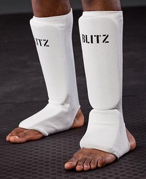 BLITZ Protège-tibia et cou-de-pied matelassés