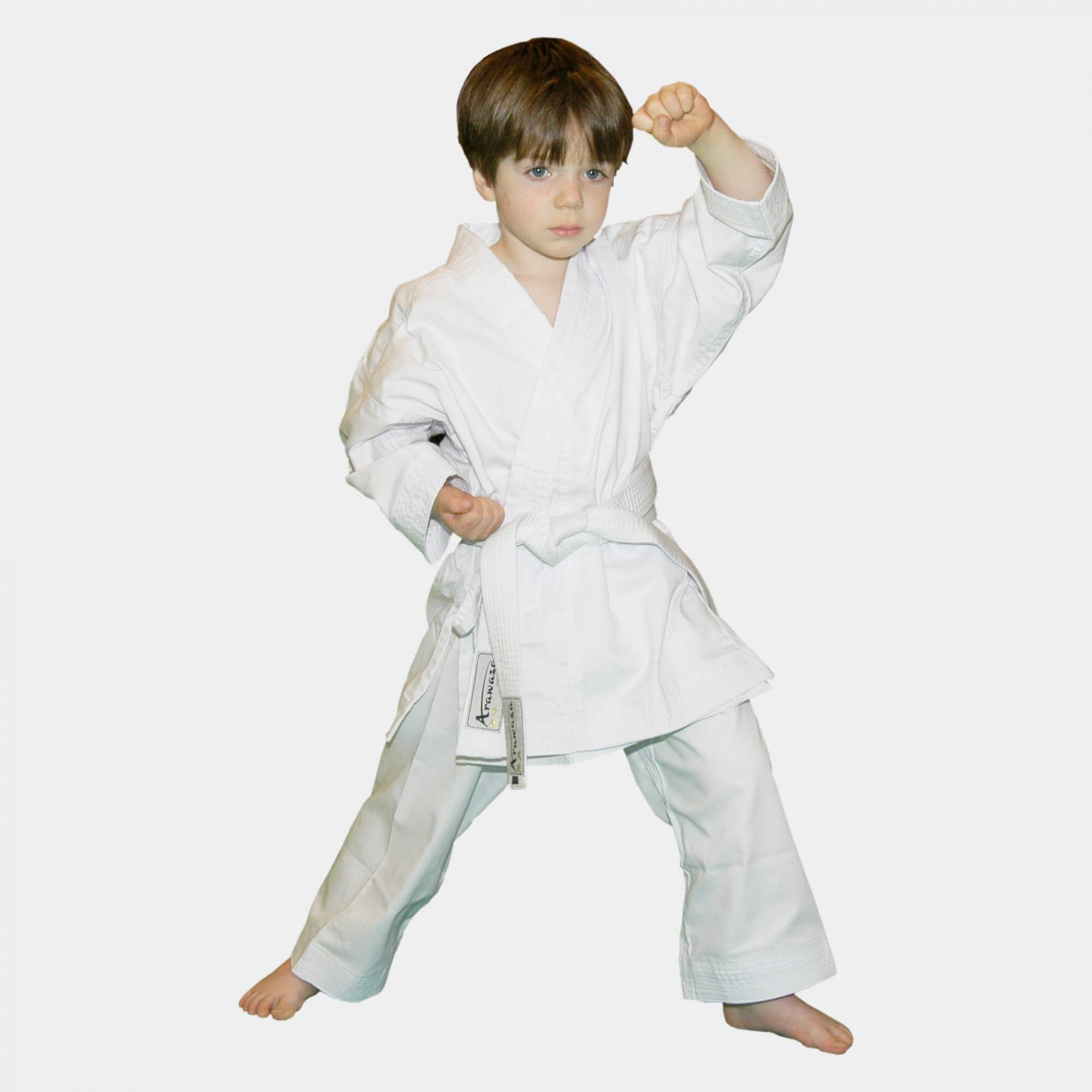 Uniform lightweight beginner white arawaza